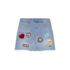 Джинсовая юбка Chiara Ferragni. Цвет: синий