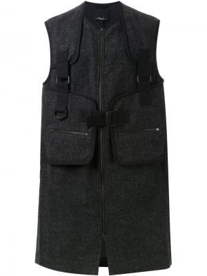 Удлиненный жилет 3.1 Phillip Lim. Цвет: серый