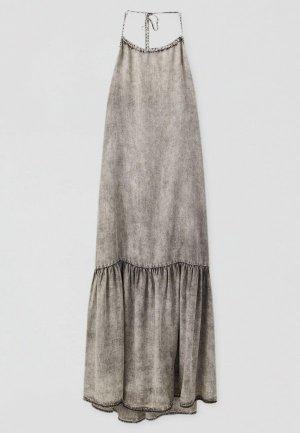 Платье джинсовое Pull&Bear. Цвет: серый