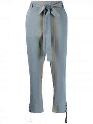 Укороченные брюки в полоску Ann Demeulemeester. Цвет: синий