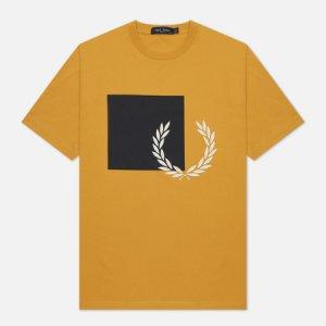 Женская футболка Printed Graphic Fred Perry. Цвет: жёлтый