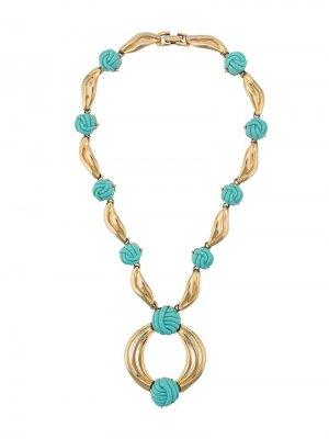 Декорированное ожерелье LANVIN Pre-Owned. Цвет: золотистый