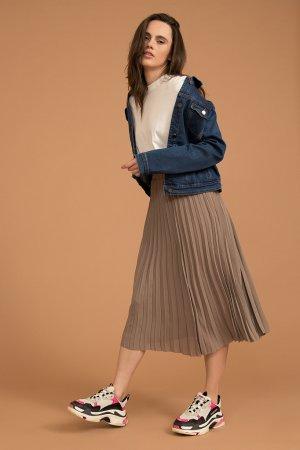 Куртка джинсовая женская Finn-Flare. Цвет: синий
