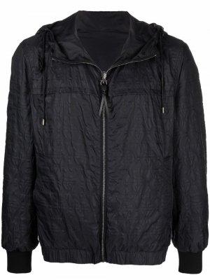 Lightweight quilted-leather jacket Salvatore Ferragamo. Цвет: черный