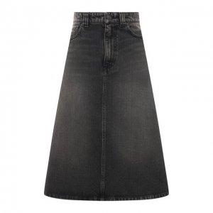 Джинсовая юбка Balenciaga. Цвет: серый