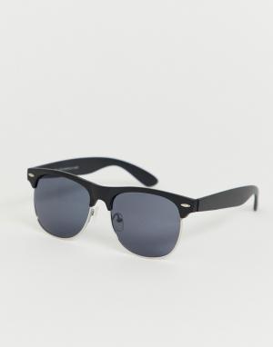 Солнцезащитные очки в черной оправе -Черный New Look