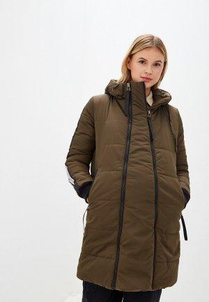 Куртка утепленная I Love Mum Копенгаген. Цвет: хаки