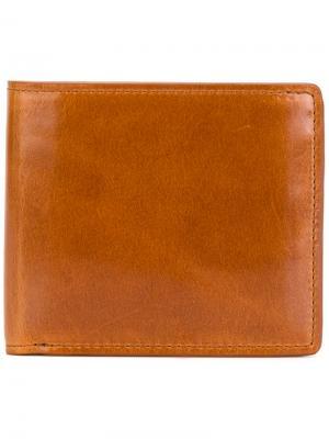 Складной кошелек Yohji Yamamoto. Цвет: коричневый