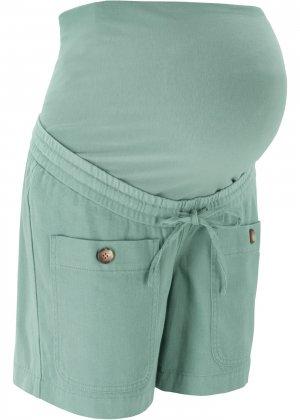 Шорты для беременных bonprix. Цвет: зеленый
