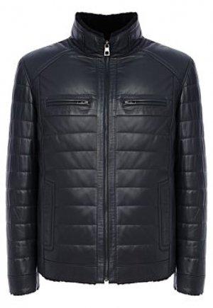 Утепленная кожаная куртка с подкладкой из овчины Jorg weber