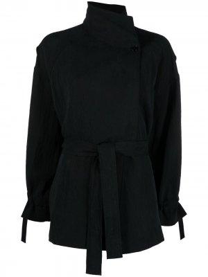 Куртка с высоким воротником и поясом Barena. Цвет: черный