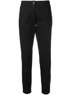 Укороченные брюки чинос Moschino Pre-Owned. Цвет: черный