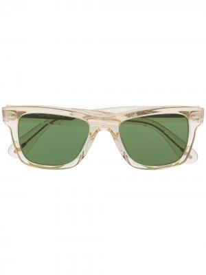 Солнцезащитные очки с затемненными линзами Oliver Peoples. Цвет: зеленый
