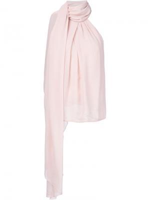 Блузка с завязкой на горловине Kaufmanfranco. Цвет: розовый и фиолетовый
