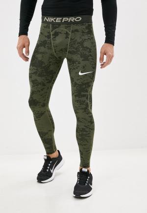 Тайтсы Nike M NP TGHT AOP. Цвет: хаки