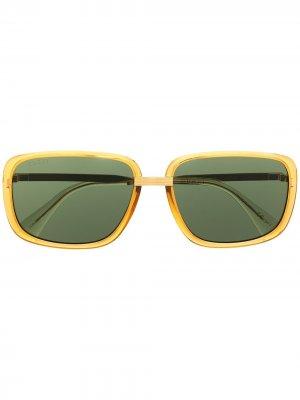 Rectangle sunglasses Gucci Eyewear. Цвет: золотистый