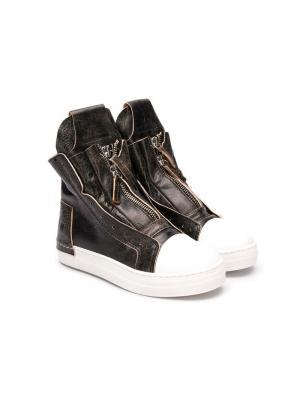 Ботинки по щиколотку Cinzia Araia Kids. Цвет: коричневый