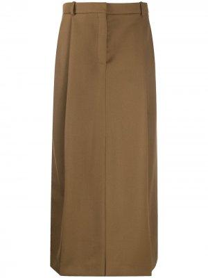 Юбка макси с завышенной талией Nina Ricci. Цвет: коричневый