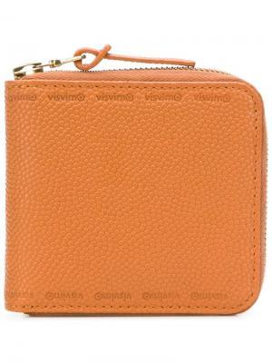 Бумажник на молнии Visvim. Цвет: оранжевый