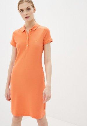 Платье Galvanni. Цвет: оранжевый