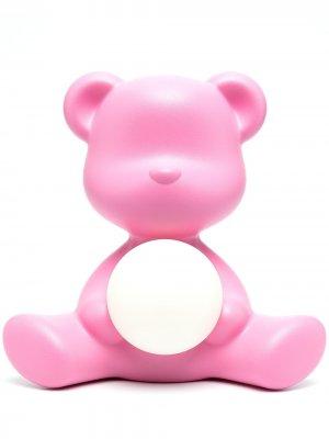 Настольная лампа Teddy Girl 32 см Qeeboo. Цвет: розовый