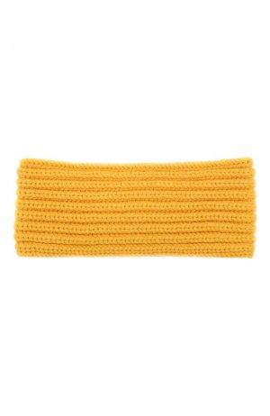Кашемировая повязка на голову Fascia Loro Piana. Цвет: желтый