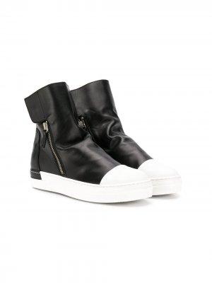Двухцветные ботинки Cinzia Araia Kids. Цвет: черный