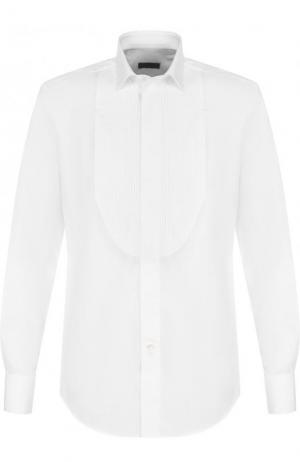 Хлопковая сорочка под смокинг Lanvin. Цвет: белый