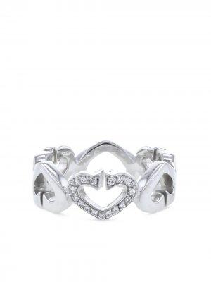 Кольцо Coeur et Symbole 2010-го года из белого золота с бриллиантом Cartier. Цвет: серебристый