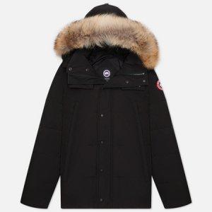 Мужская куртка парка Wyndham Canada Goose. Цвет: чёрный