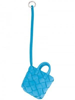 Подвеска с плетением Intrecciato Bottega Veneta. Цвет: синий