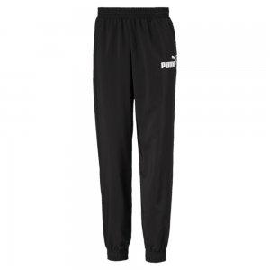 Детские штаны Essentials Woven Pants B PUMA. Цвет: черный