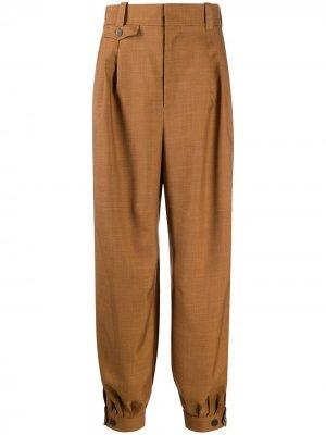 Зауженные брюки LOEWE. Цвет: коричневый