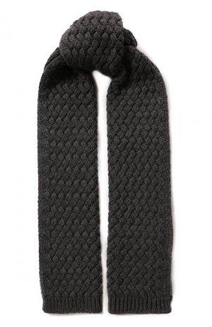 Кашемировый шарф Dolce & Gabbana. Цвет: серый