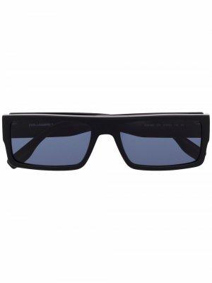 Солнцезащитные очки в прямоугольной оправе Karl Lagerfeld. Цвет: черный
