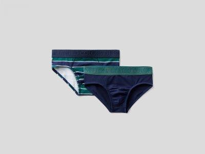 Набор из 2х трусов на резинке Benetton. Цвет: мультиколор