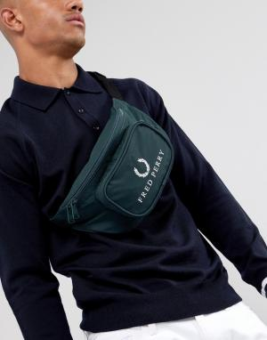 Темно-зеленая сумка-кошелек на пояс в стиле 90-х с логотипом Fred Perry. Цвет: зеленый