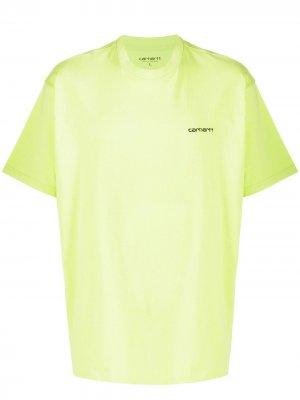 Футболка с вышивкой Carhartt WIP. Цвет: зеленый
