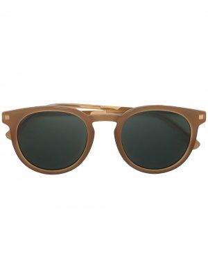 Солнцезащитные очки Lahti Mykita. Цвет: коричневый