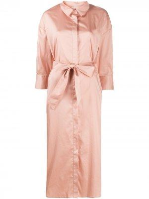 Платье-рубашка с поясом Altea. Цвет: розовый