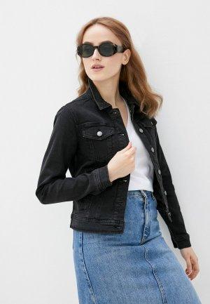 Куртка джинсовая Jacqueline de Yong. Цвет: черный