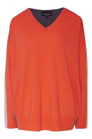 Красный пуловер Emporio Armani. Цвет: розовый