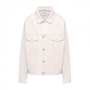 Джинсовая куртка Agolde. Цвет: белый