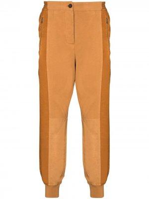 Спортивные брюки со вставками Haider Ackermann. Цвет: оранжевый