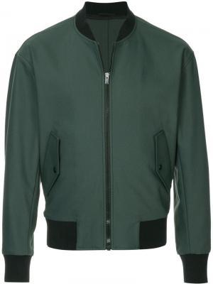 Куртка-бомбер на молнии Ck Calvin Klein. Цвет: зеленый
