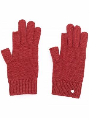 Кашемировые перчатки для сенсорных экранов Rick Owens. Цвет: красный