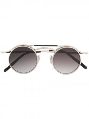 Солнцезащитные очки 2903H в круглой оправе Matsuda. Цвет: черный