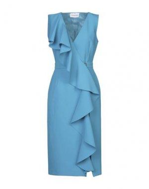 Платье длиной 3/4 ALEXANDR ROGOV. Цвет: бирюзовый