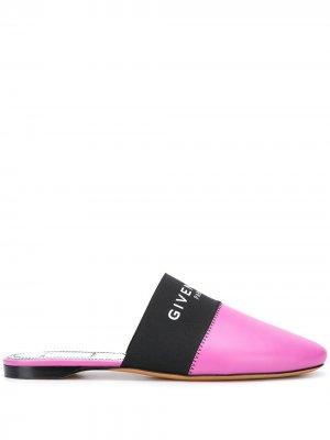 Слиперы с логотипом Givenchy. Цвет: фиолетовый