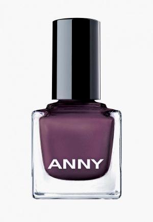 Лак для ногтей Anny тон 051 глубокий фиолетовый с золотым мерцанием. Цвет: фиолетовый